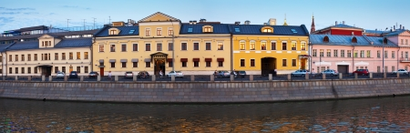 historical district of Moscow in summer evening. Russia photo