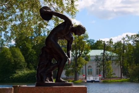 garden sculpture in Catherine Park at Tsarskoye Selo (Pushkin), St. Petersburg, Russia photo