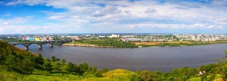 gorki: Summer view of new district of Nizhny Novgorod. Russia