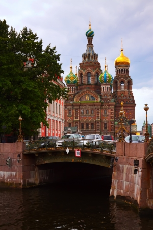 View of St. Petersburg. Church of the Savior on Blood in summer  photo