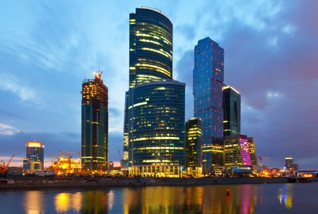 conceived: MOSCOW, RUSSIA - JULE 4: Moscow International Business Center, another name is Moscow-City  in Jule 4, 2012 in Moscow, Russia.First conceived project in 1992. Designed for 250,000 - 300,000 people