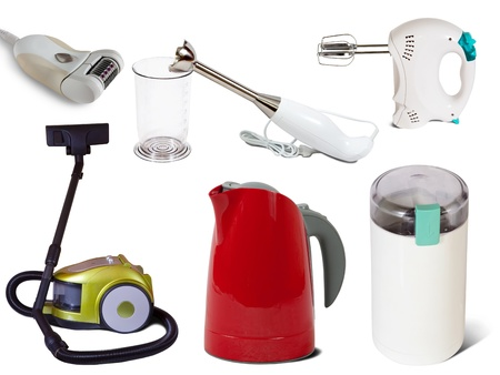 household appliances: Set of  household appliances. Isolated on white background with shadows