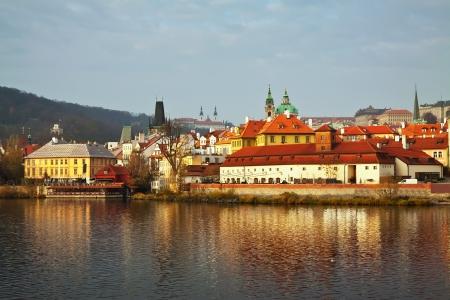 View of Prague from Vltava side, Czechia  Stock Photo - 16729423