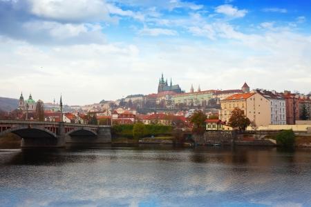 View of Prague from Vltava side, Czechia  Stock Photo - 16721984