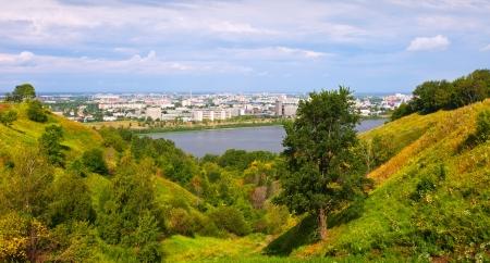 nizhni novgorod: Nizhny Novgorod with Oka river. Russia