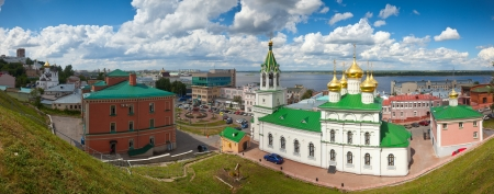 historic district of Nizhny Novgorod and  Volga river in summer sunny day. Russia Stock Photo - 16782534