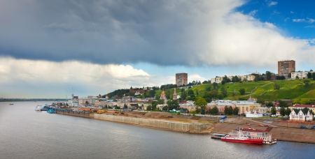 Summer view of old district of Nizhny Novgorod. Russia