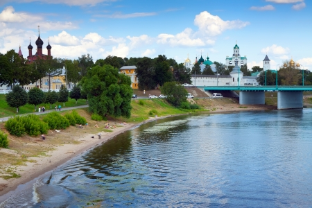 kreml: View of Yaroslavl in summer. Russia Editorial