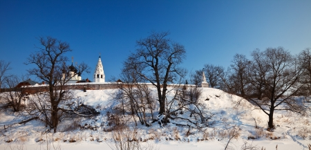 Alexanders monastery at Suzdal in winter. Russia photo