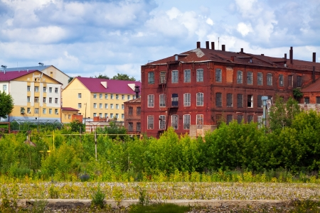 The old building textile factories in Ivanovo. Russia
