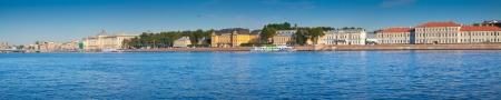 View of St. Petersburg. Universitetskaya Embankment in summer Stock Photo - 17007083