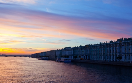 View of St. Petersburg. Neva river in morning Stock Photo - 17067190