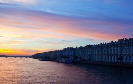 View of St. Petersburg. Neva river in morning Stock Photo - 17067190