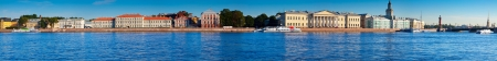 Panoramic view of St. Petersburg. Vasilyevsky Island in summer day Stock Photo - 17123550