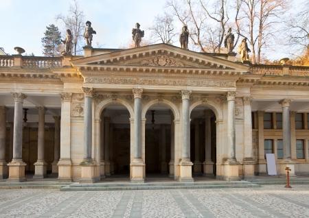 carlsbad: Colonnade around  warm-water mineral spring in Karlovy Vary