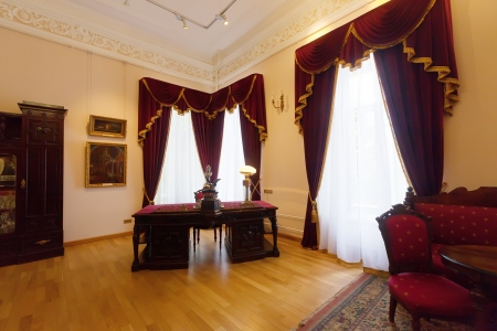governor: YAROSLAVL, RUSSIA - JULY 28: Interior of The Governor house in July 28, 2012 in Yaroslavl, Russia. Residence of Governor of Yaroslavl, built in 1820. Since 1970, in building is located the Art Museum