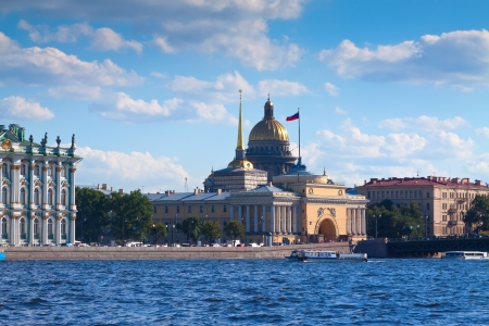 Views of Saint Petersburg. St. Isaacs Cathedral and Admiralty building  photo