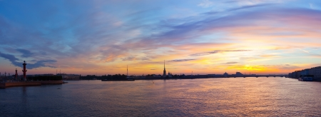 View of St  Petersburg  Neva river in morning photo
