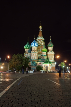 Intercession Cathedral at Red Square in night. Moscow, Russia Stock Photo - 17230708