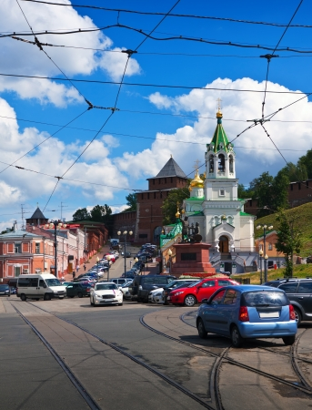 historic district of Nizhny Novgorod in summer sunny day. Russia photo