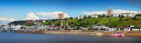 kreml: Panorama of Nizhny Novgorod with Oka river. Russia