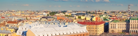 isaac s: Top view of St  Petersburg from Saint Isaac Stock Photo