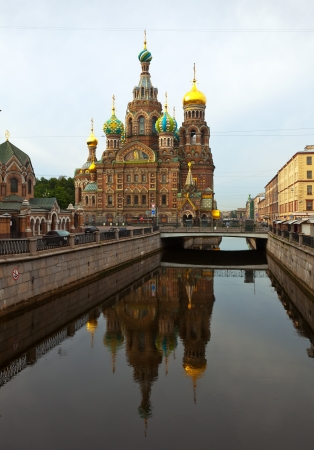 Views of Saint Petersburg. Church of the Savior on Blood in summer  photo