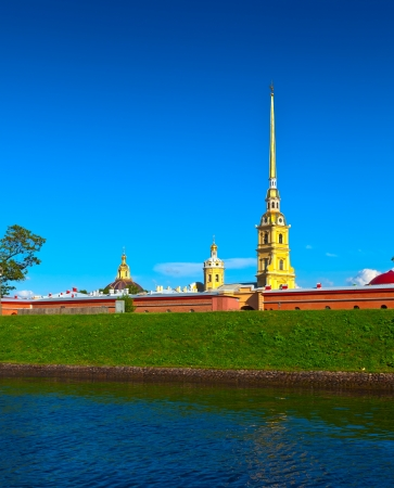 View of St. Petersburg. Peter and Paul Fortress in sunny day Stock Photo - 17740047