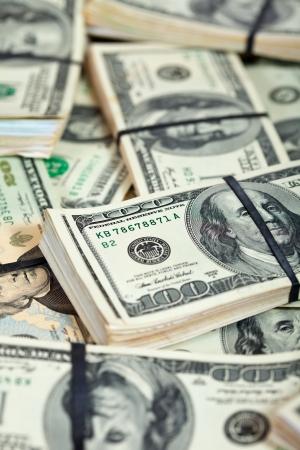 Muchos billetes de 100 dólares de fondo Foto de archivo - 17740088