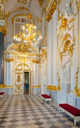 hermitage: ST.PETERSBURG, RUSSIA - AUGUST 1: Interior of Winter Palace in August 1, 2012 in St.Petersburg, Russia. State Hermitage was founded in 1764. Now it is largest in Russia and one of largest art museums Editorial