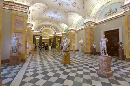 hermitage: ST.PETERSBURG, RUSSIA - AUGUST 1:  Ancient sculptures in Hermitage in August 1, 2012 in St.Petersburg, Russia. State Hermitage was founded in 1764. Now it is largest in Russia, one of largest of world Editorial