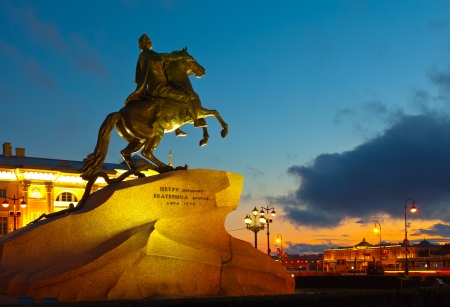 Monument of Peter the First in Saint Petersburg, Russia photo