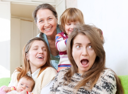 Happy women of three generations in home Stock Photo - 17887557