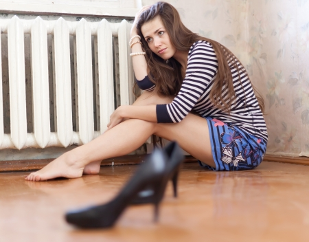 Sad girl having disappointment in first love Stock Photo - 18344017