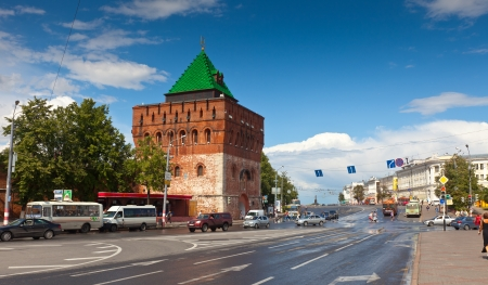 nizhni novgorod: NIZHNY NOVGOROD, RUSSIA - JULY 19: View of historic district in July 19, 2012 in Nizhny Novgorod, Russia. City was founded in 1221, now is fifth largest city in Russia - population of 1,250,615