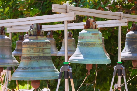 knell: bells in Holy Transfiguration Monastery in Yaroslavl. Russia Editorial