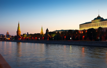 View of Moscow Kremlin in summer sunset. Russia Stock Photo - 18435130