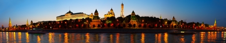 Panorama of Moscow Kremlin in summer sunset. Russia photo