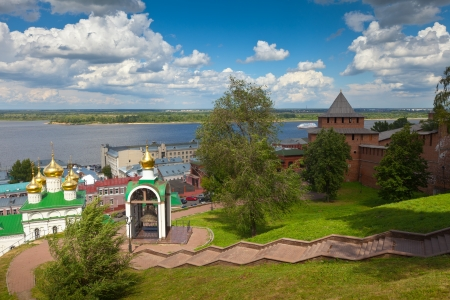 kreml:  historic district of Nizhny Novgorod in summer sunny day. Russia Stock Photo