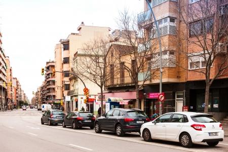 censo: BARCELONA, ESPA�A - 01 de marzo: Vista de Sant Adria de Besos 01 de marzo 2013 en Barcelona, ??Espa�a. Ciudad fue fundada en 1012. Poblaci�n: 34.482 (2012 censo) Editorial
