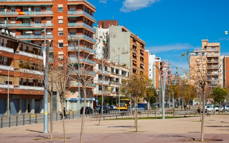 3rd century: BADALONA, SPAIN - MARCH 10: View of Badalona in March 10, 2013 in Badalona, Spain. City was founded by the Romans in the 3rd century BC.  Population: 220,977 (2012 Census) Editorial