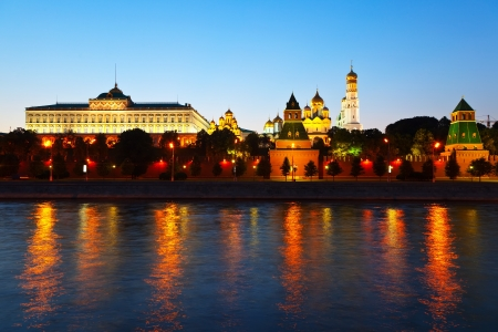 moskva river: Kind to the Moscow Kremlin  and   Moskva River in sunset. Russia