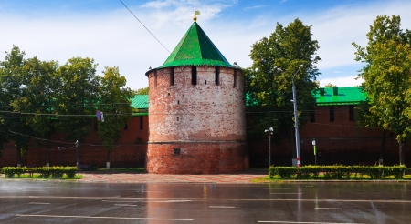 Kremlin wall at Nizhny Novgorod in summer. Russia photo