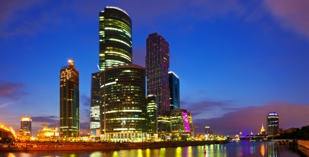 Panoramic view of Moscow. Moscow-city business center, Russia. photo