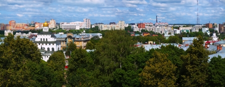 residential settlement: panoramic view of  Vladimir in summer. Russia Editorial