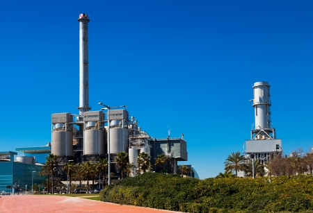 Industry power plant at Sand Adria de Besos. Barcelona, Spain Stock Photo - 19085112