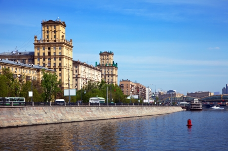 View of Moscow. Berezhkovskaya embankment  in spring da photo