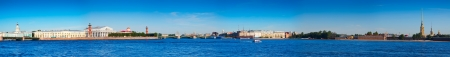 Panoramic view from Neva river. Saint Petersburg, Russia photo