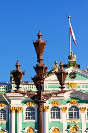 Views of Saint Petersburg. Lamppost on Palace Square photo