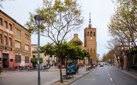 3rd century: BADALONA, SPAIN - MARCH 23: View of Parroquia de Sant Josep in March 23, 2013 in Badalona, Spain. City was founded by the Romans in the 3rd century BC.  Population: 220,977 (2012 Census) Editorial